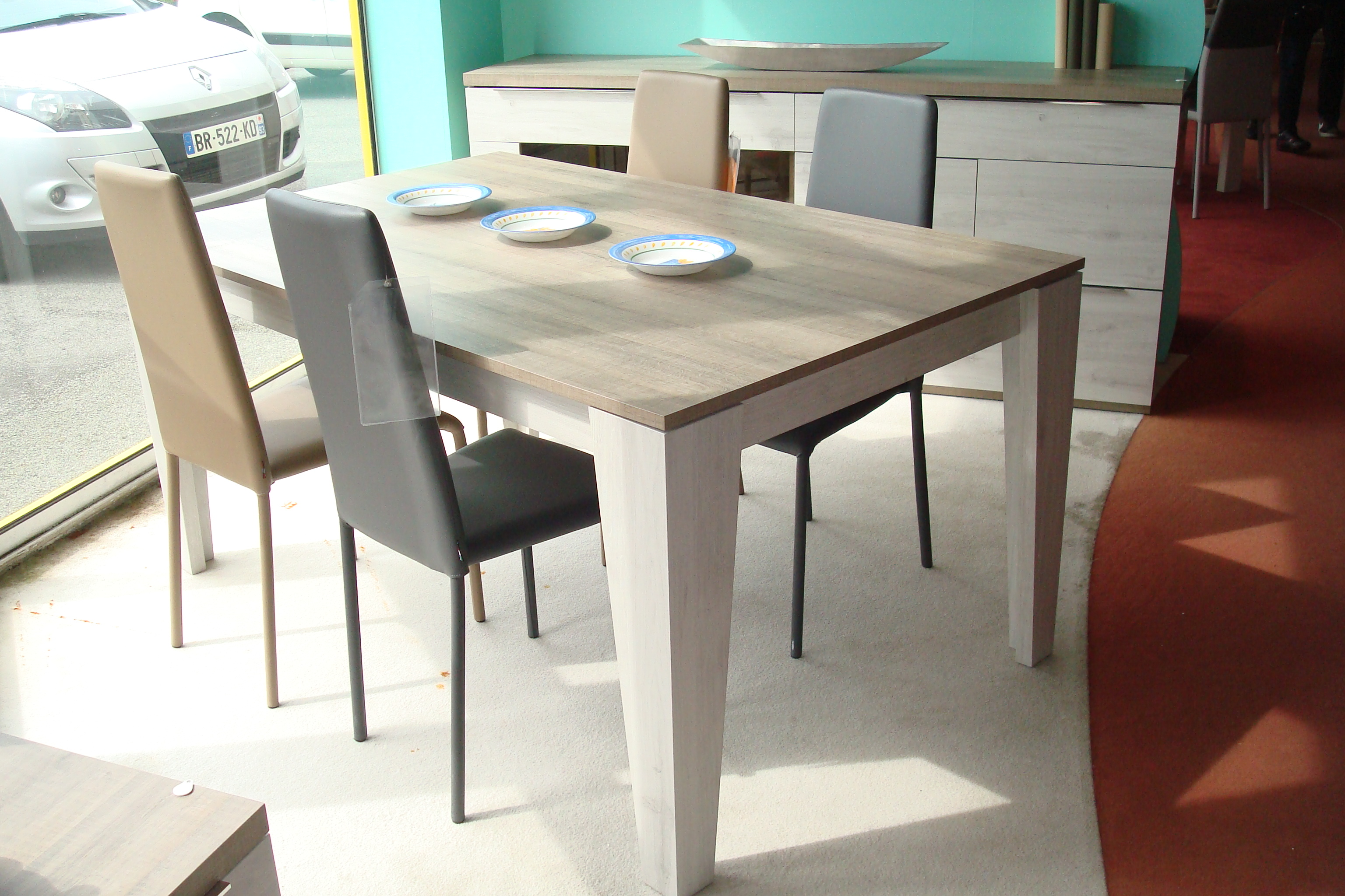 Table Rectangulaire Avec 1 Allonge Porte Feuille De 70 CmLarge Choix Dans La Gamme En Tables Et PietementsDimensions 160 X 77 100 Decor